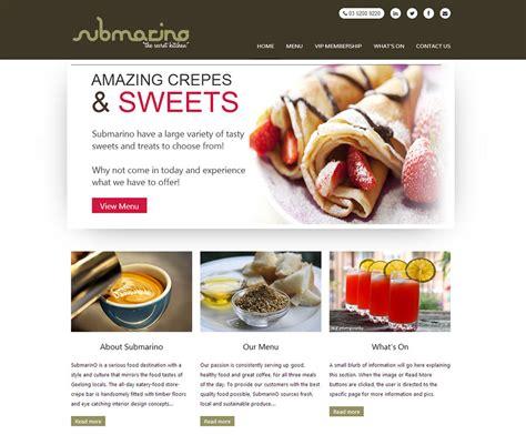 Submarino Cafe Website Design   Cheap Website Design Melbourne   You Go Designs