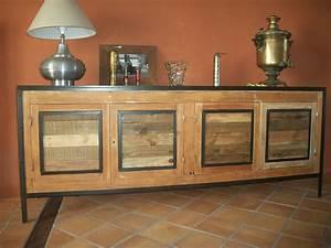 Acheter Meuble En Palette Bois : meubles palettes bois flott et fer ~ Premium-room.com Idées de Décoration