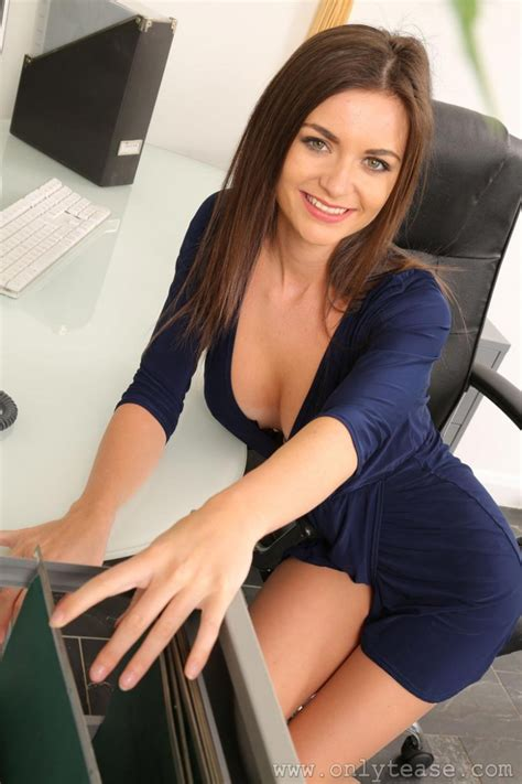 Naughty Topless Secretary