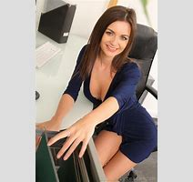 Naughty Topless Secretary