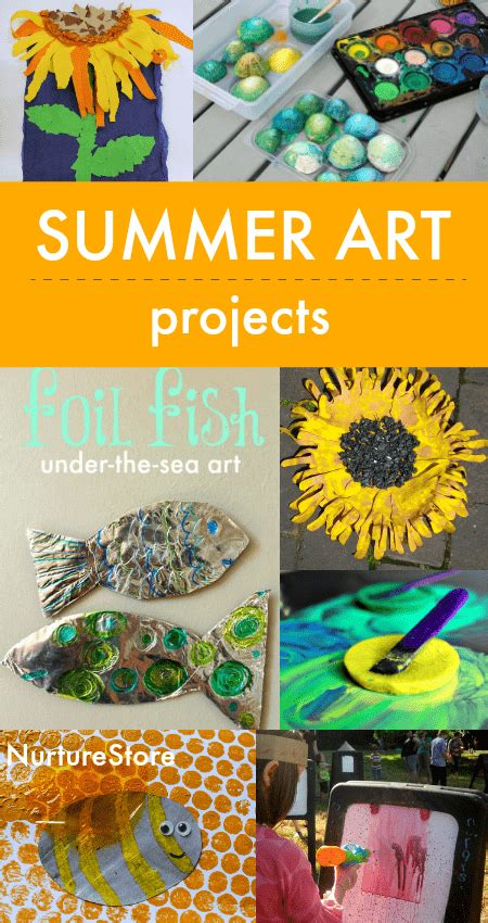 summer art activities  children nurturestore