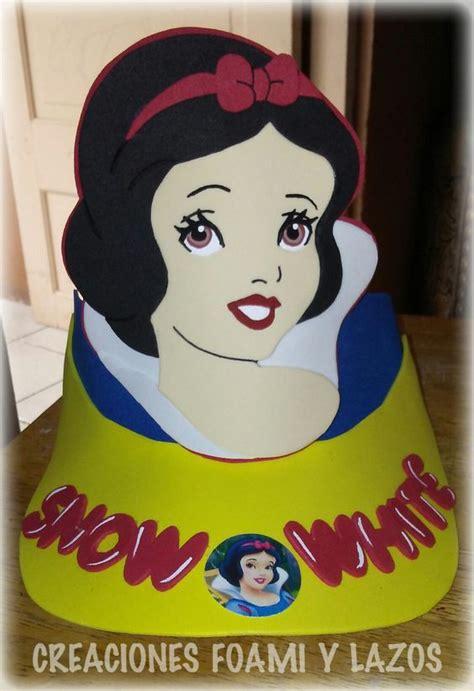 blanca nieves visera de personajes en foami pinterest