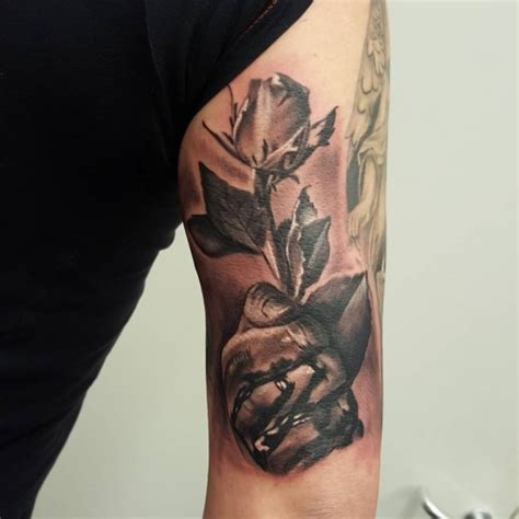 bleeding hand  rose tattoo  tattoo ideas gallery