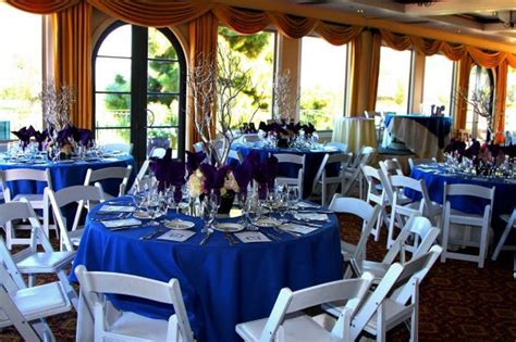 Royal Blue And White Wedding Reception.