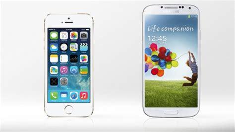 galaxy s4 vs iphone 5s iphone 5s vs samsung galaxy s4 specs to