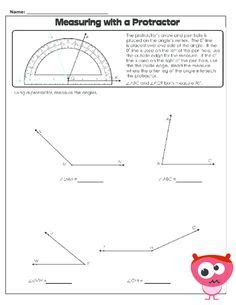 measuring angles worksheet geometry worksheets and angles