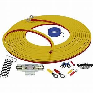 Stinger 4ga Marine Amplifier Installation Kit Yellow    Red