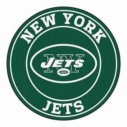 Jets York Nfl Area Round Rug Team