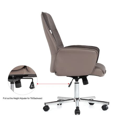 leather fabric executive office chair adjustable swivel