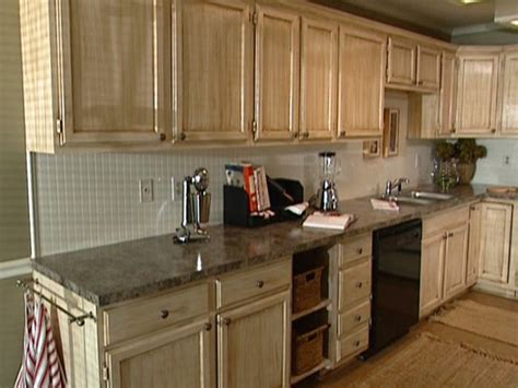 glazing kitchen cabinets distressing diy