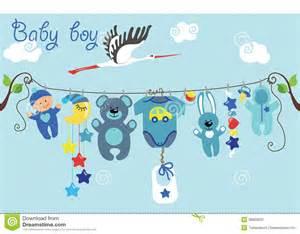 Cute Newborn Baby Boy Cartoon