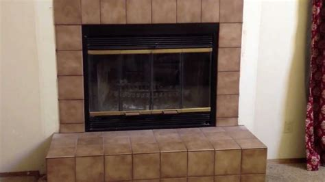 How To Replace Fireplace Screen by Before And After How To Replace An Inefficient Wood