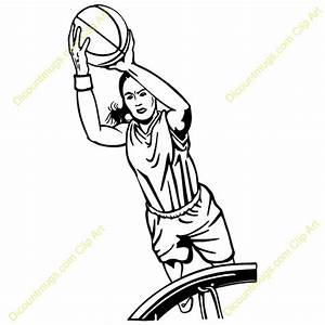 Girl Basketball Player Clipart Shooting | Clipart Panda ...