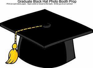 Graduation Black Hat Photo Booth Prop | Photo Booth Props ...
