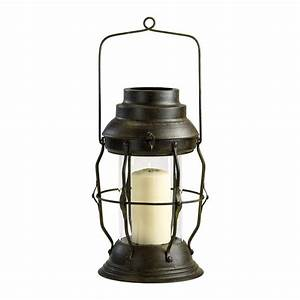Willow antique rustic cottage style oil lamp candle