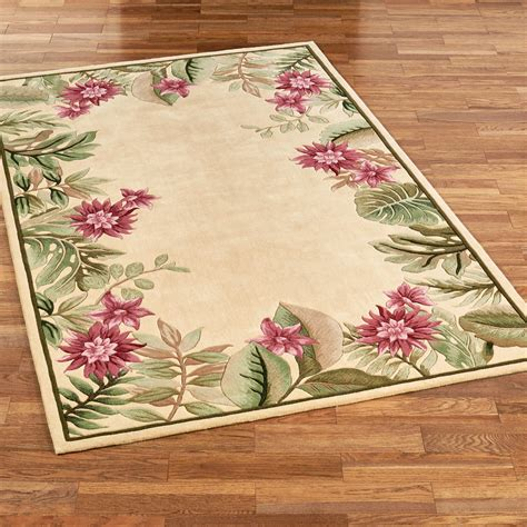 floral area rugs tropical floral area rugs