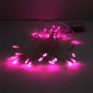 Guirlande lumineuse à piles 40 LEDS ROSES Deco Lumineuse