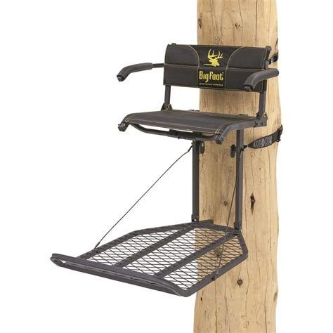 foot pump tree holder rivers edge big foot teartuff xl lounger hang on tree stand 667266 hang on tree stands at