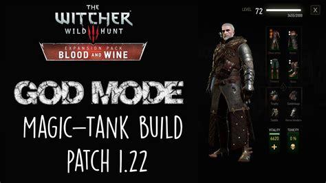 witcher build god sword blood mode pc magic tank ps4 xbox
