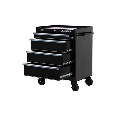 Husky Rolling Tool Cabinet Chest Box Wide 4 Drawer Toolbox
