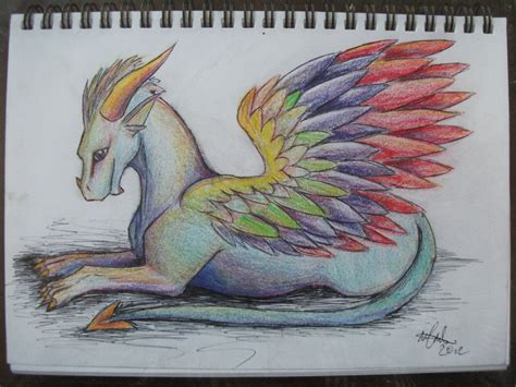 Iridescent Dragon lying down by delilittle on DeviantArt