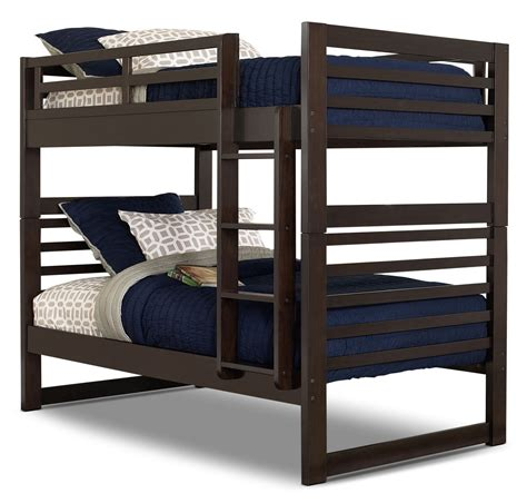 bunk beds chadwick bunk bed espresso the brick