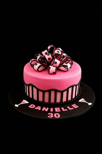 Cake Stripes Birthday Cakes Bow 30th Adult