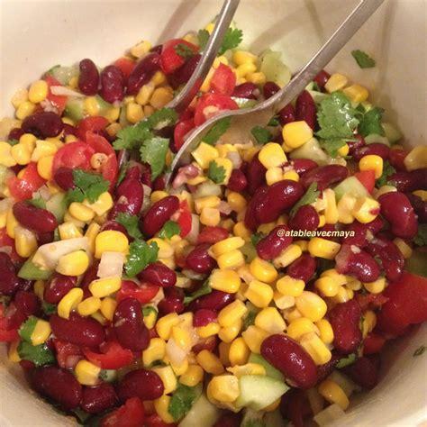 salade de mais  haricots rouges  la mexicaine