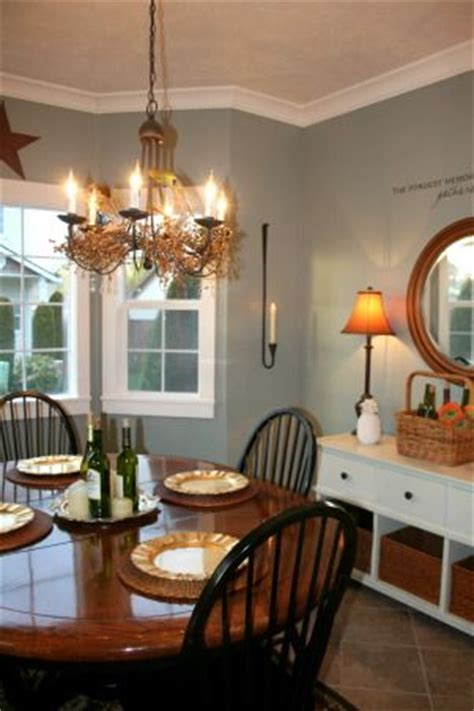 behr sage gray design   cottage dining rooms dining room paint colors dining room