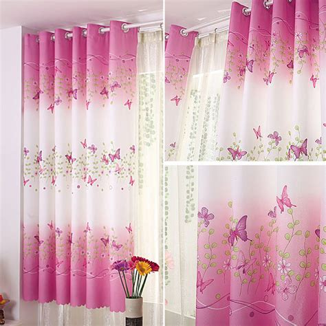 sheer voile curtains uk uk butterfly tulle door window curtain drape panel sheer