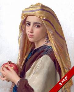 GYPSY BOHEMIAN YOUNG GIRL WOMAN POMEGRANATE PAINTING ...