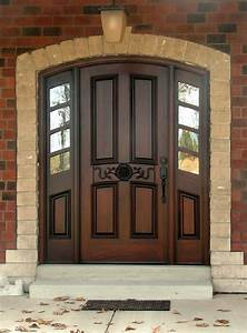 Wood Entry Doors Applied for Home Exterior Design - Traba