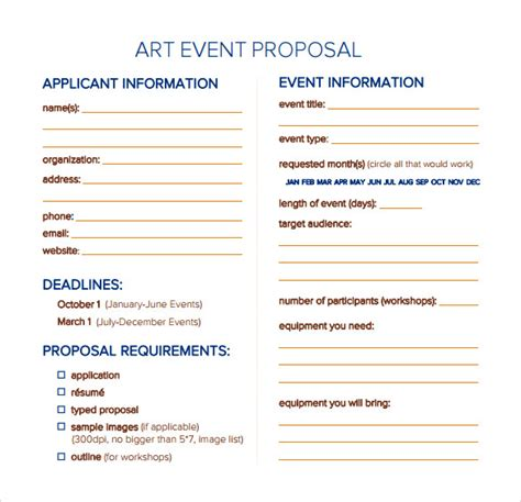 sample event proposal templates psd  word