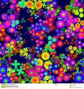 Abstract Colorful Floral Pattern, Multicolor Flowers ...