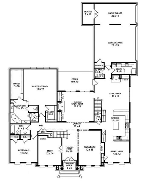 5 Bedroom House Plans 2 Story by Single Story 5 Bedroom House Plans Best Of 5 Bedroom House