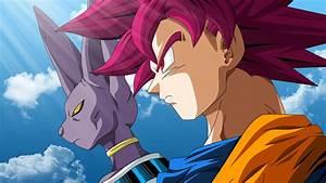 Wallpaper Beerus, Super Saiyan God, Goku, Dragon Ball Z ...