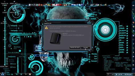 Tema Azul Neón Para Windows 7 [descarga Full]