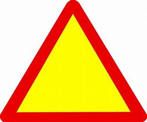Blank Warning Sign Clipart - Clipart Suggest