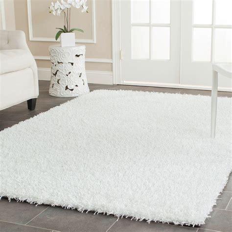 White Area Rug by Safavieh Monterey Shag White 8 Ft X 10 Ft Area Rug