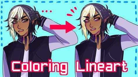how to color lineart how to color lineart