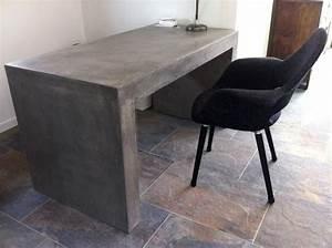 Bureau Ou Table Design En Bton Massif Allg Cir Pour