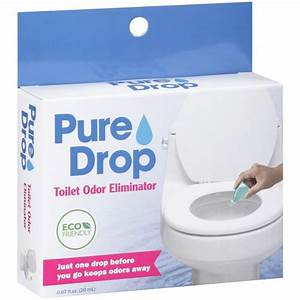 Pure drop toilet odor eliminator 067 fl oz walmartcom for Bathroom odor eliminator