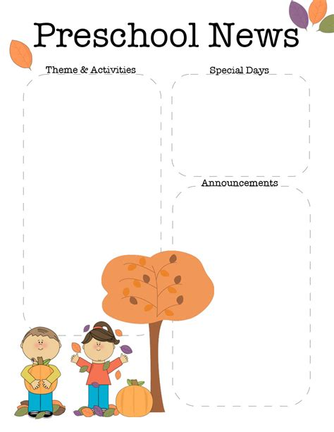 free preschool newsletter templates october preschool newsletter template the crafty
