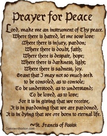 prayer of st francis of assisi st francis of assisi prayer saints blesseds