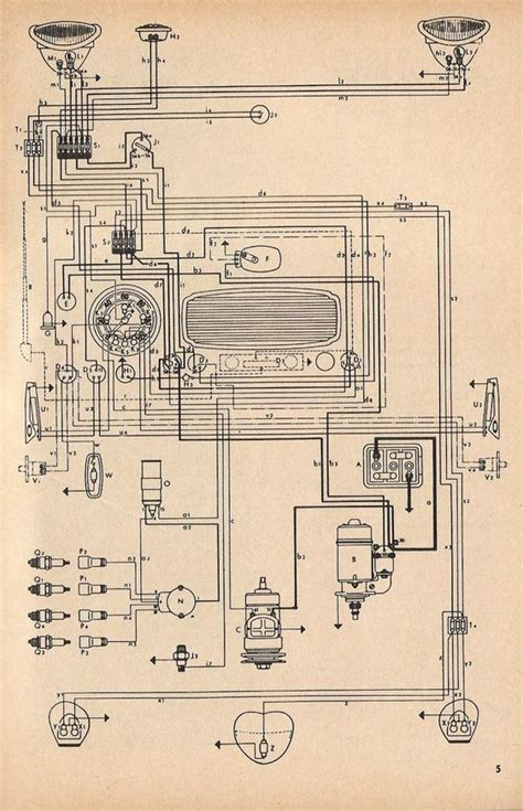Wiring Diagram In Color 1964 Vw Bug Beetle Convertible The by Vw Beetle 1960s Blueprint Search Vw Beetle
