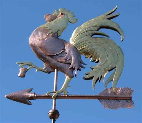 rooster weathervane crowing west coast weathervanes