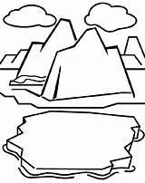 Coloring Iceberg Glacier Drawing Crayola Clipart Montagne Cricut Clip Polar Regions Antarktis Glaciers Ausmalbilder Arctic Cliparts Amp Cards Bear Malvorlagen sketch template