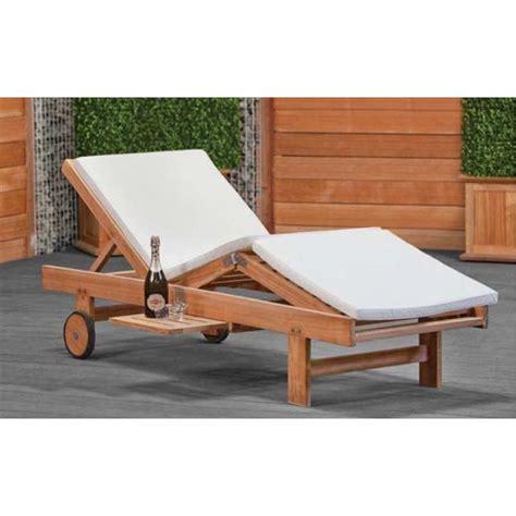 chaise longue de plage chaise longue de jardin ou plage en teck wembley imprégné