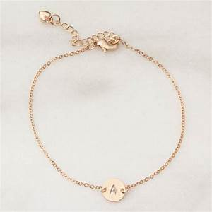 personalised letter disc bracelet by bloom boutique With make your own bracelet with letters