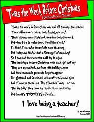christmas poems about teachers